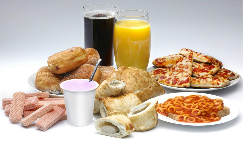 Los alimentos procesados y la salud