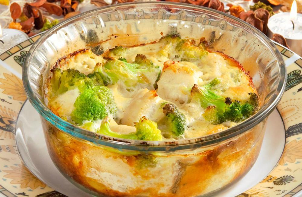 Receta de cazuela de pollo y brócoli