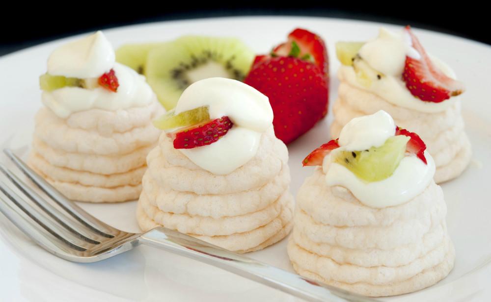 Receta de mini pavlovas de fruta