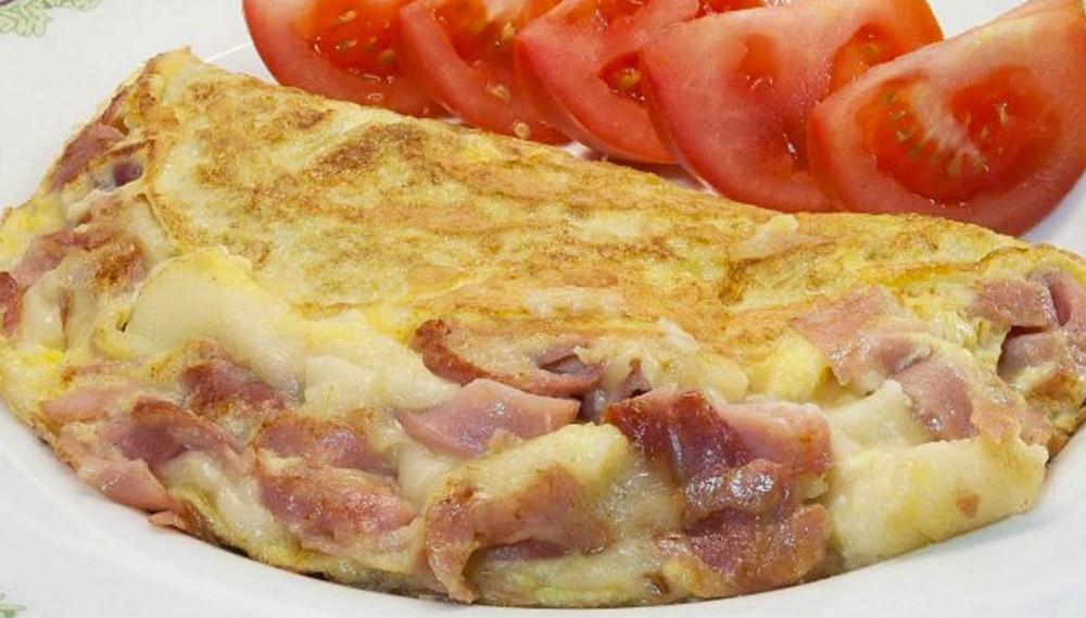 Receta de omelette de jamón y queso
