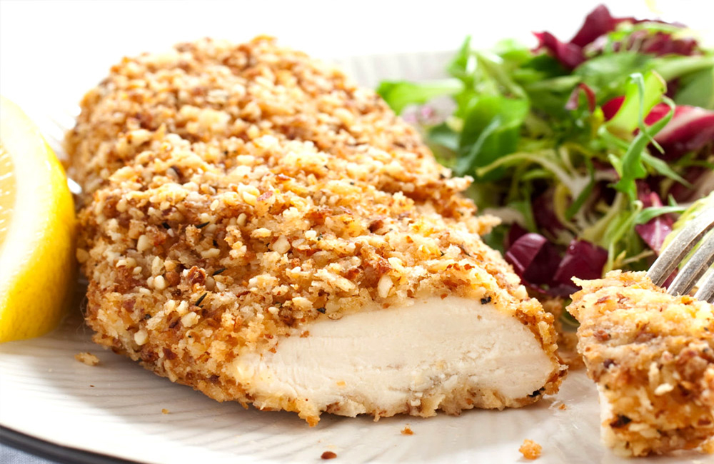 Receta de pollo empanizado con ajo