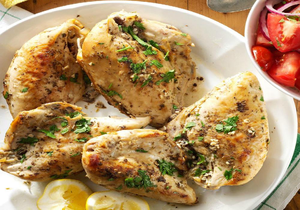 Receta de pollo marinado con limón