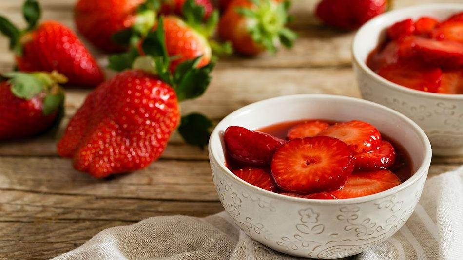 Receta de fresas con vinagre balsámico