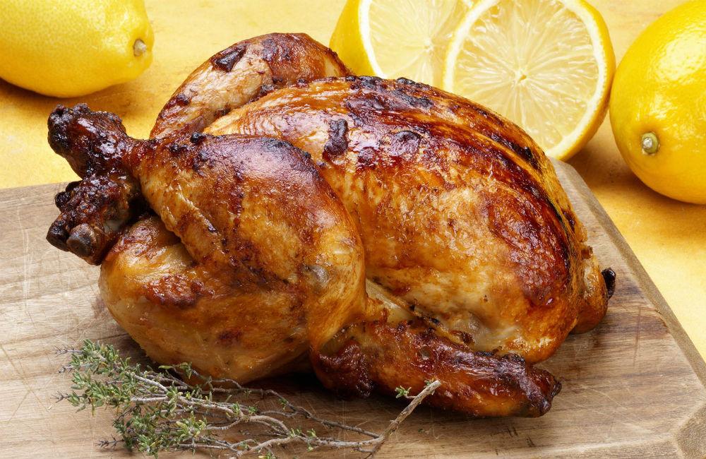 Receta de pollo horneado estilo rostizado